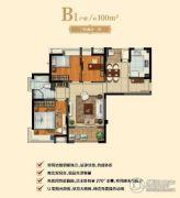 城开珑庭3室2厅1卫0平方米户型图