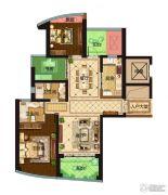 保利达江湾城3室2厅2卫148平方米户型图