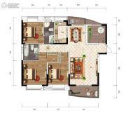 江南URD3室2厅2卫140平方米户型图