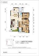 江岸国际4室2厅2卫107平方米户型图