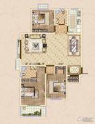 皓顺・华悦城3室2厅2卫131平方米户型图