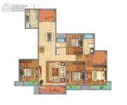 万达广场4室2厅2卫171平方米户型图