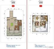公园19032室2厅1卫83--90平方米户型图