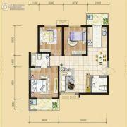 书香河畔3室2厅2卫0平方米户型图