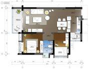 珠江源昌花园2室2厅1卫78平方米户型图
