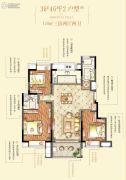 绿地博墅2室2厅1卫80平方米户型图