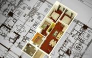金色年华公馆1室2厅1卫90平方米户型图