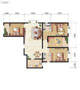 山海城邦・马街摩尔城4室2厅2卫158平方米户型图