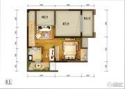 重庆巴南万达广场2室3厅2卫101平方米户型图