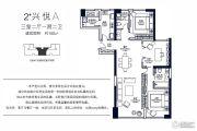 华润悦府3室2厅1卫150平方米户型图