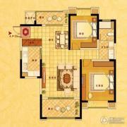 中南世纪花城2室2厅1卫109平方米户型图