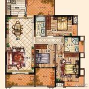 充耀盛荟3室2厅2卫132平方米户型图