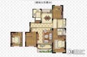 金浦御龙湾3室2厅2卫115平方米户型图
