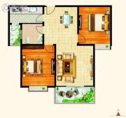西城旺角2室2厅1卫101平方米户型图