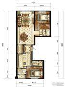 中海枫丹公馆2室2厅2卫140平方米户型图