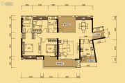 中信新城3室2厅2卫127平方米户型图