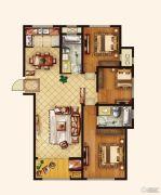 广厦财富中心3室2厅2卫139--144平方米户型图