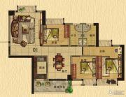 香樟美地3室2厅2卫103平方米户型图