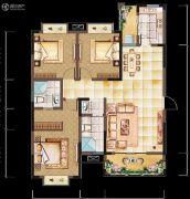 亲亲里3室2厅2卫126平方米户型图