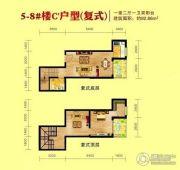 恩施国际商贸城1室2厅1卫92平方米户型图
