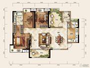 天玺二期3室2厅2卫138平方米户型图