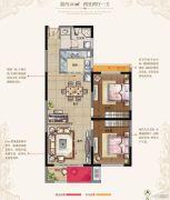 东方现代城2室2厅1卫101平方米户型图