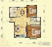 荷塘月色2室2厅2卫123平方米户型图