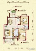中南明珠2室2厅2卫98平方米户型图