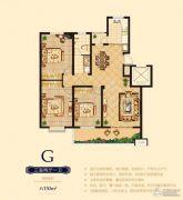 日百・市北依河园3室2厅1卫130平方米户型图