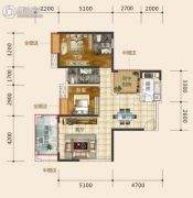 东星・熙城2室2厅2卫103--104平方米户型图