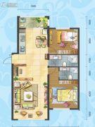 理想04512室2厅2卫0平方米户型图