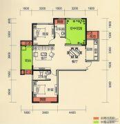 天麟・时代经典2室2厅2卫102平方米户型图