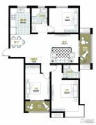 澜庭・观邸3室2厅1卫134平方米户型图