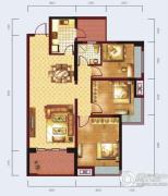 泰然南湖玫瑰湾3室2厅1卫108平方米户型图