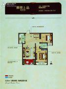 丽景上品2室2厅2卫88平方米户型图