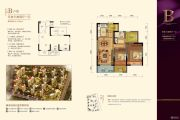 阳光郡3室2厅1卫87平方米户型图