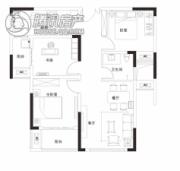 同信・滨江贰号3室2厅1卫93平方米户型图