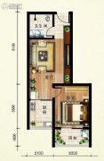 欢乐颂1室1厅1卫61平方米户型图