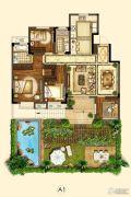 世茂招商语山4室2厅2卫118平方米户型图