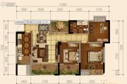 天府欧城3室2厅1卫76平方米户型图