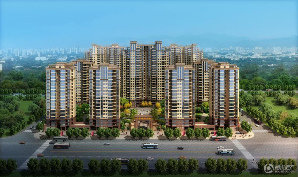 广隆·海尚首府沿招商大道半鸟瞰图