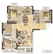 冠景瑞园3室2厅2卫105平方米户型图