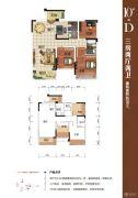 大唐世家3室2厅2卫86平方米户型图