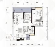 富力现代广场3室2厅2卫122平方米户型图