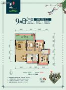 东方华城3室2厅2卫104平方米户型图