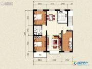 祥和馨筑3室2厅1卫120平方米户型图