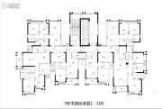 金紫世家3室2厅2卫60--120平方米户型图