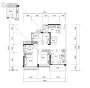 壹城中心3室2厅2卫98平方米户型图