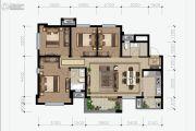 花样年香�T第4室2厅2卫114平方米户型图