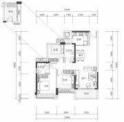 壹城中心3室2厅2卫0平方米户型图